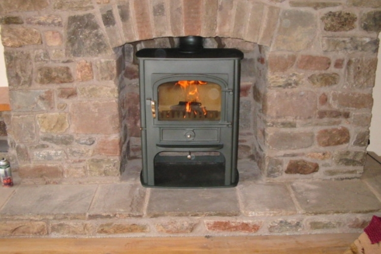 Clearview Solution in a brick fireplace
