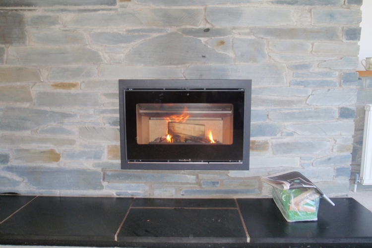 Replacing an old open fire with an efficient woodburner