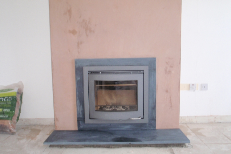 Scan DSA 4-5 woodburner to replace an open fire