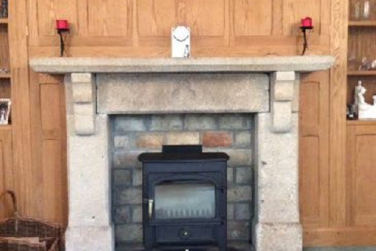 Clearveiw Vision in a stone fireplace