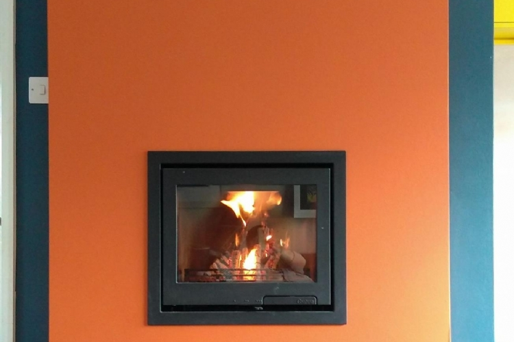 Fireplace installation in Truro