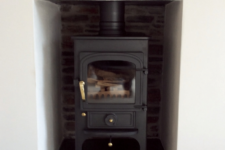Clearview stove installed in Cornwall