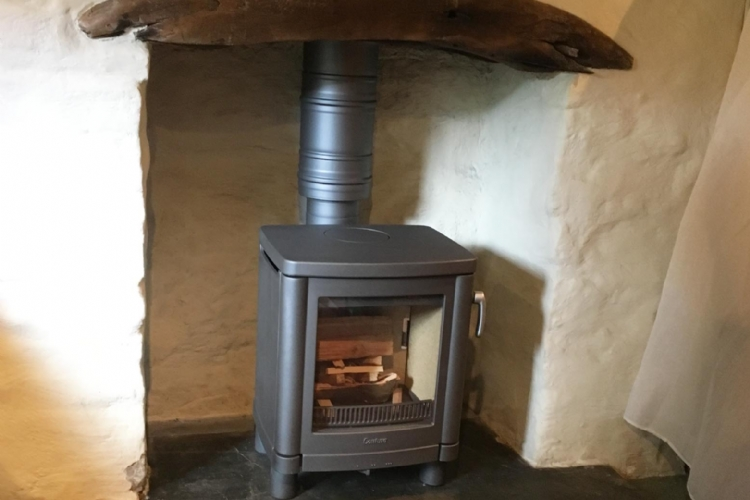 Contura 51L woodburner installed in Cornwall