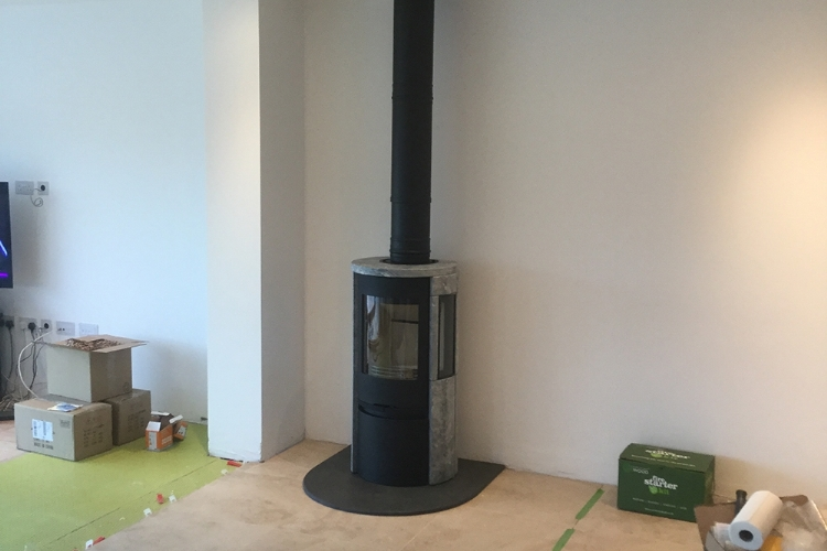 Contura 850 with soapstone freestanding woodburner