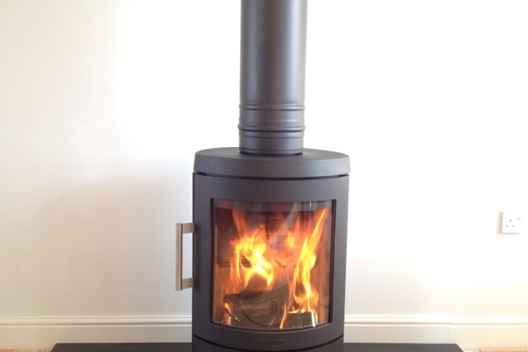 Hwam 3110 with honed slate hearth installation