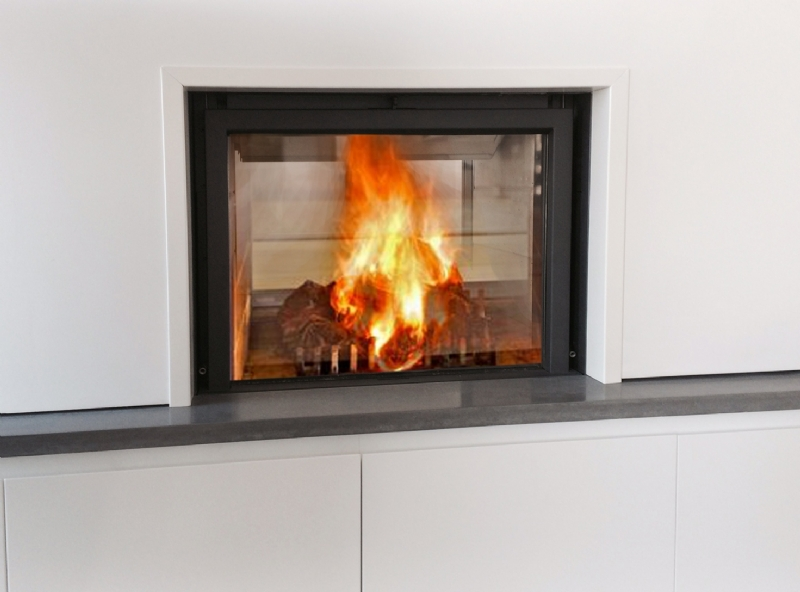 Stuv 21/75 two sided woodburner wood burning stove installation from ...