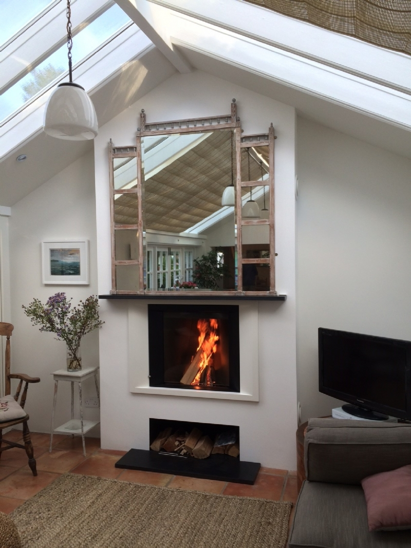 Stuv Micro Mega Woodburner wood burning stove installation ...