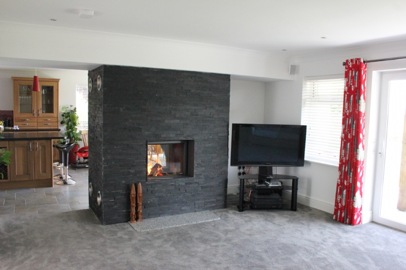 Stuv 21-75 double sided installation wood burning stove installation ...