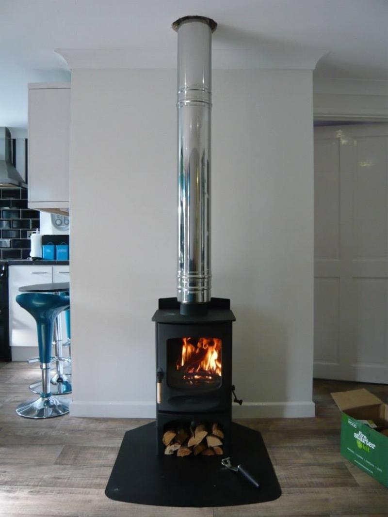 Charnwood C4 with log stand