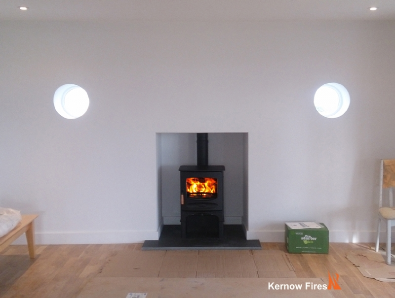 Charnwood C5 with log store