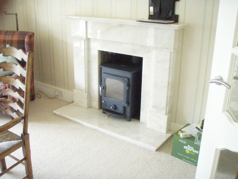 Clearview Pioneer in a Marble Surround