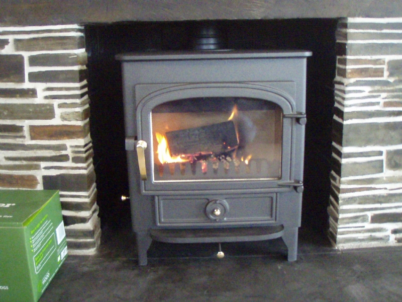 Clearview Vision is a traditional slate fireplace