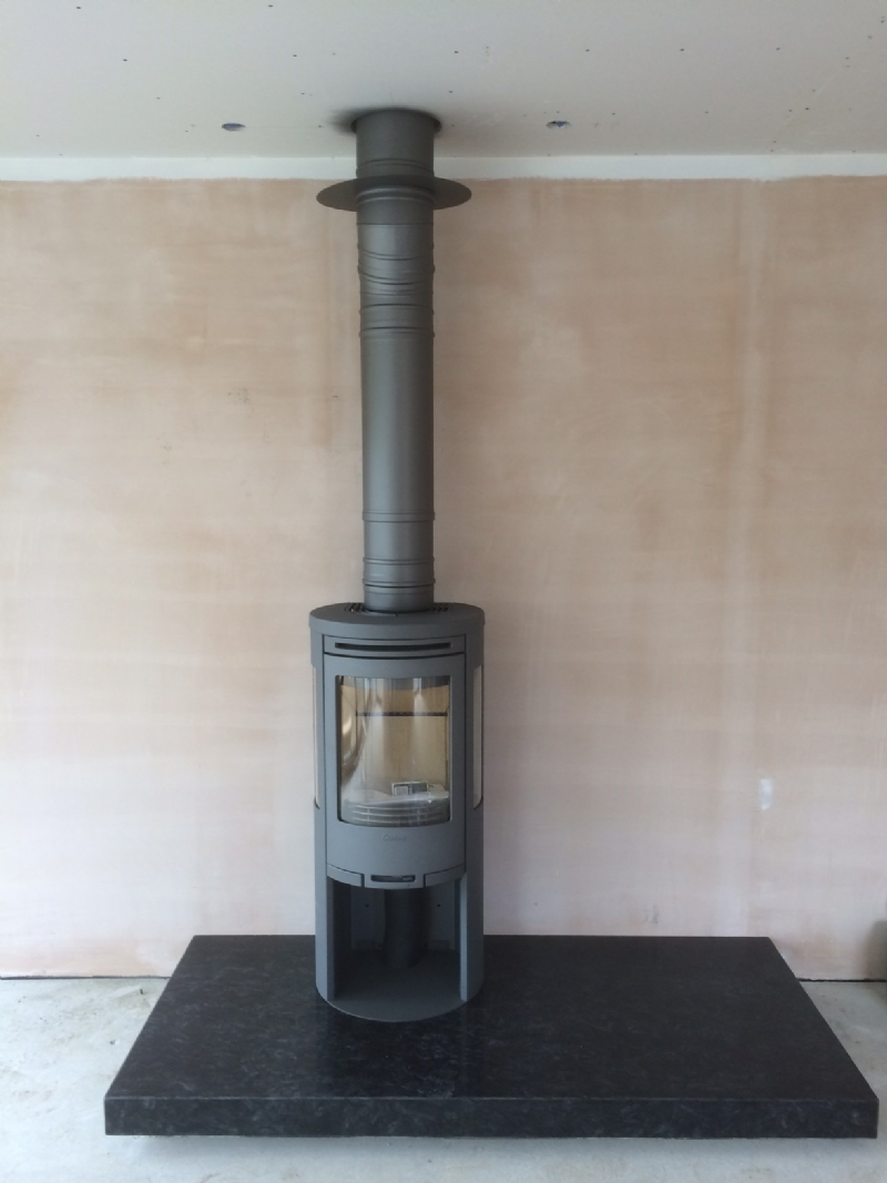 Contura 550 Wood Burning Stove Installation From Kernow Fires