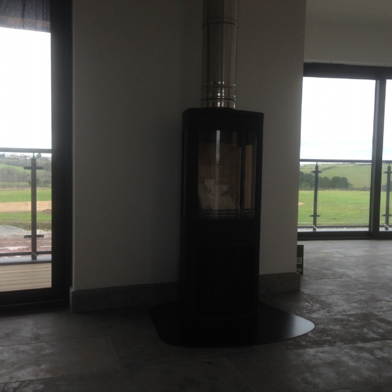 contura 750 in a new build wood burning stove installation. Black Bedroom Furniture Sets. Home Design Ideas