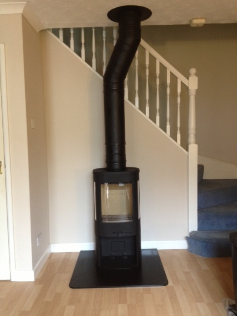 Contura 850 By The Stairs Wood Burning Stove Installation