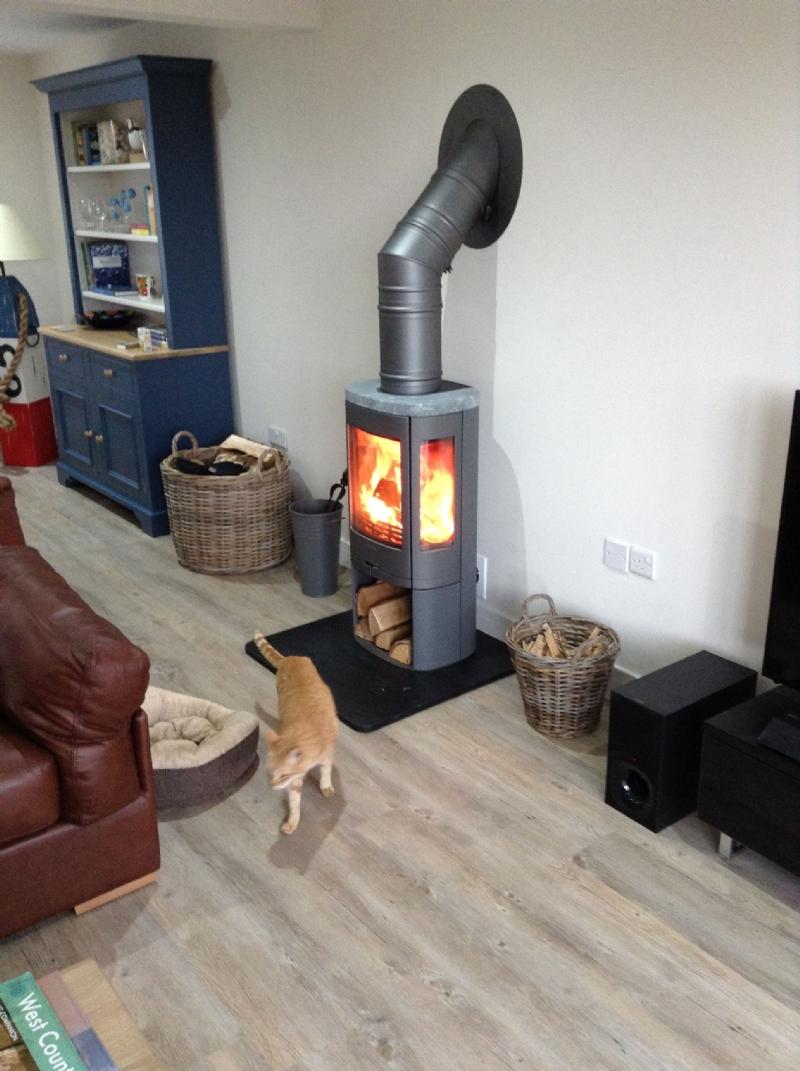 Contura 850 Between Rooms Wood Burning Stove Installation