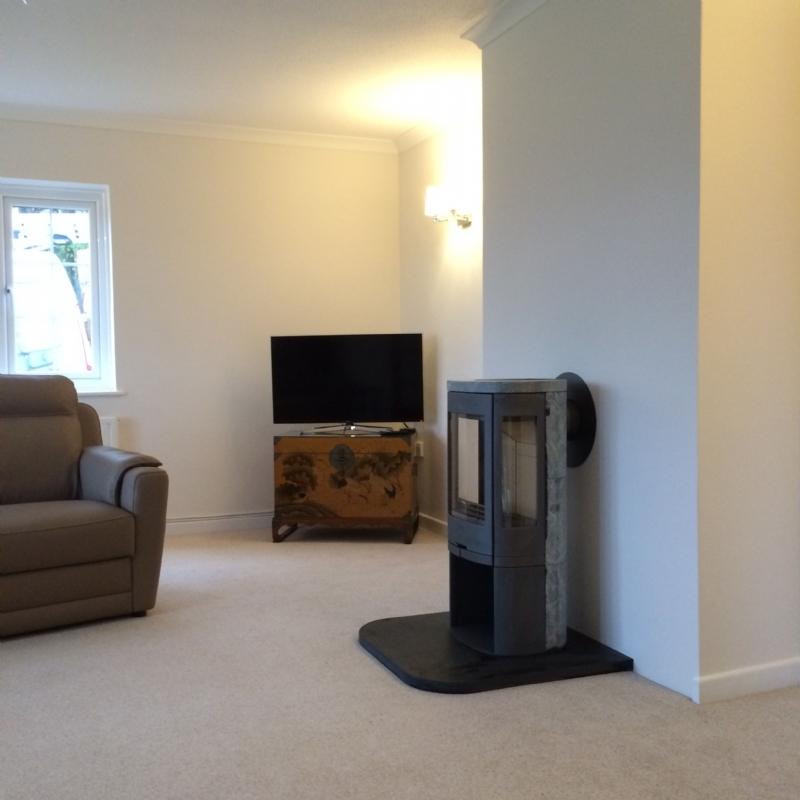 contura 860t wood burning stove installation from kernow. Black Bedroom Furniture Sets. Home Design Ideas