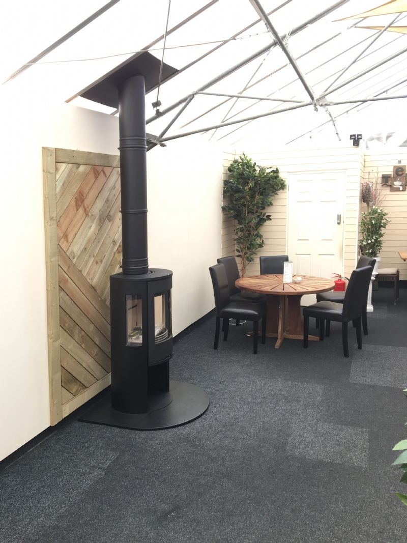 Woodburner at Newquay Garden Centre