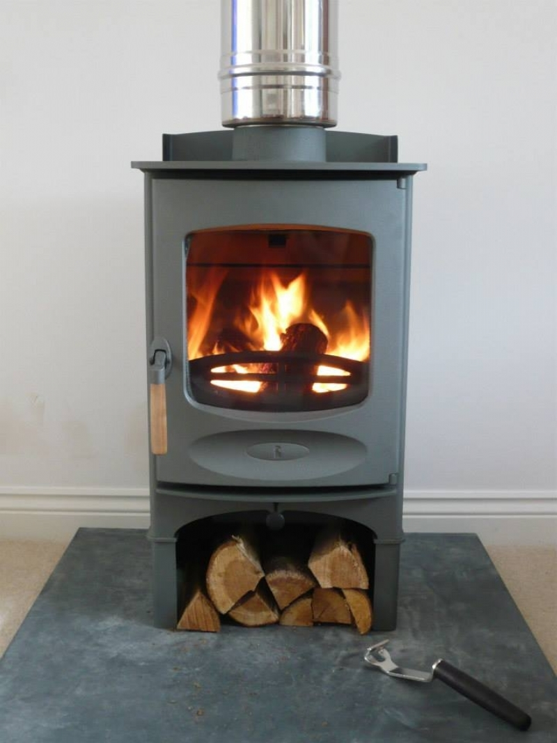 Charnwood C4 With Log Store And Honed Slate Hearth Wood