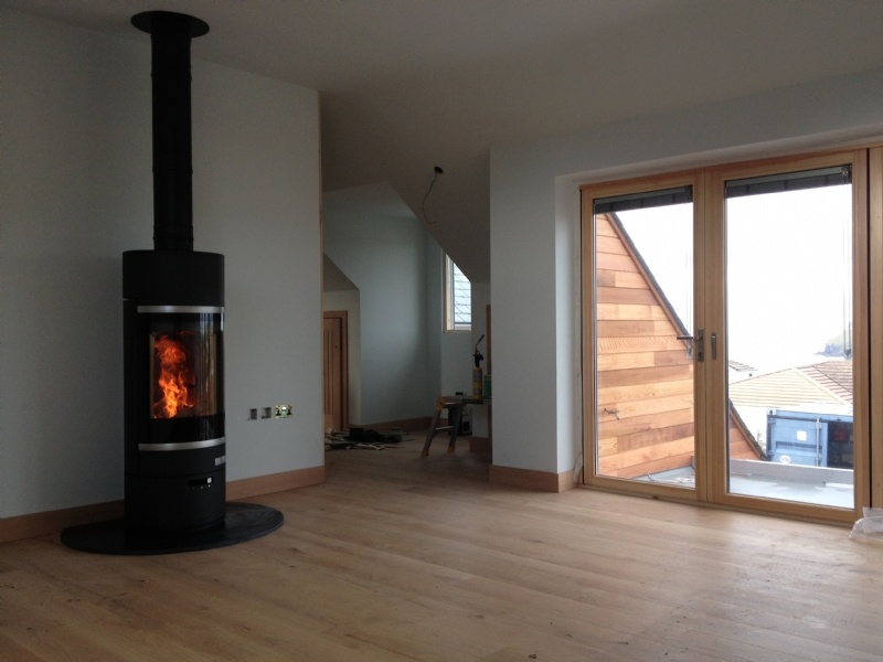 Scan 85 In An Open Plan Living Room Wood Burning Stove