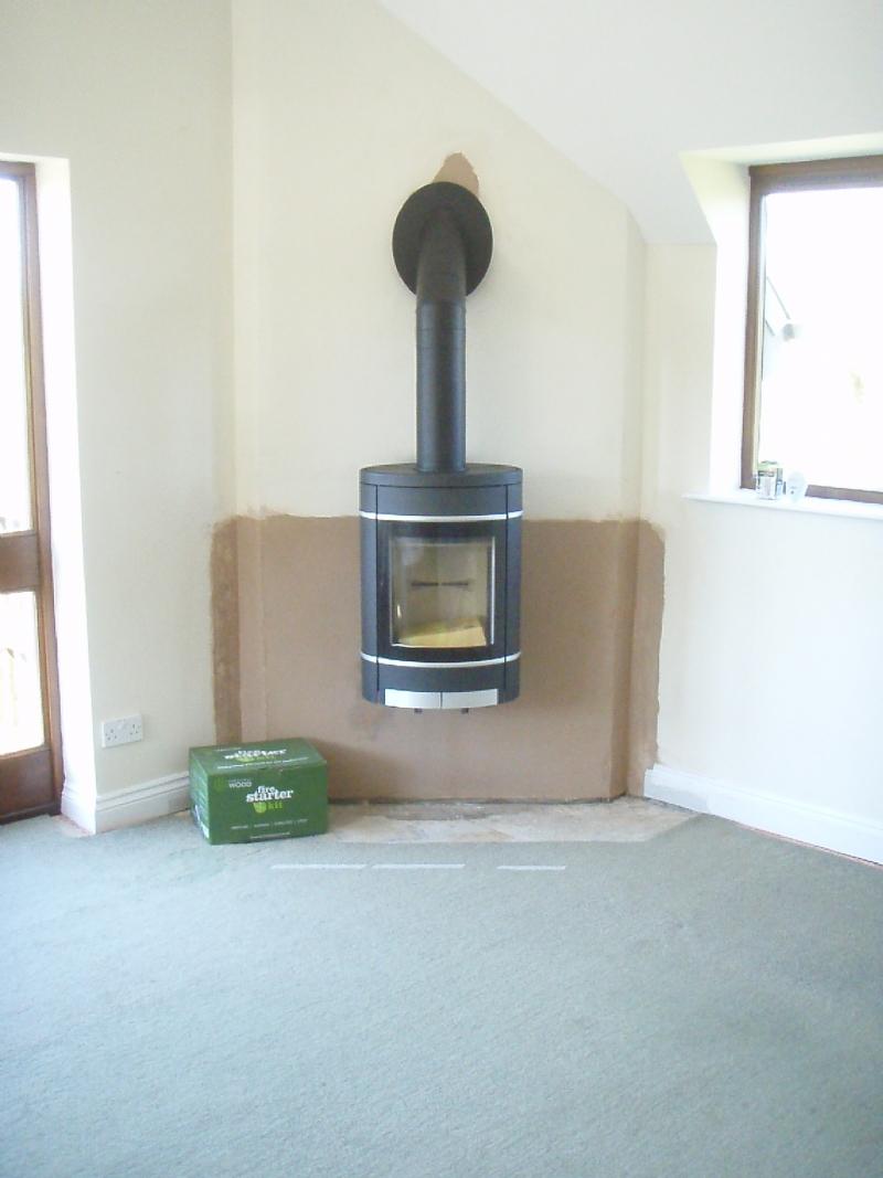 Scan 58 wall hung wood burner