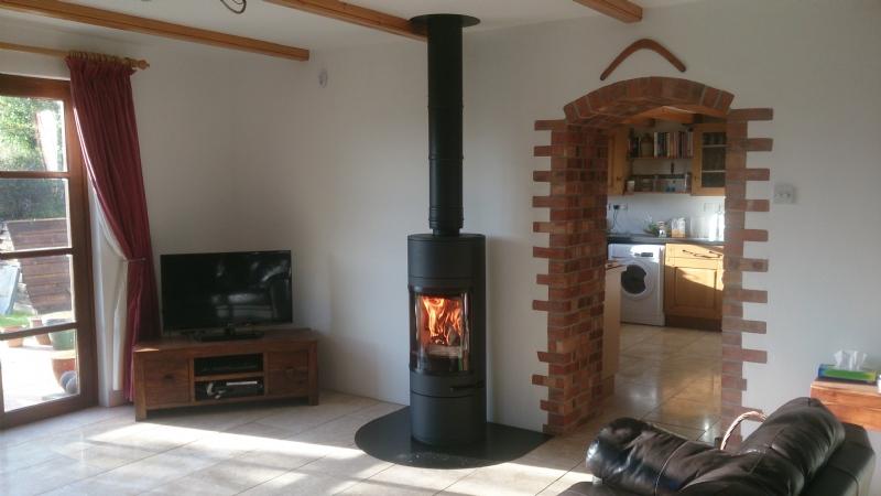 Scan 83 wood burner in Cornwall
