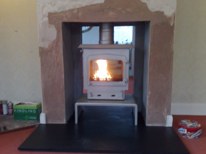 Woodwarm Fireview in white