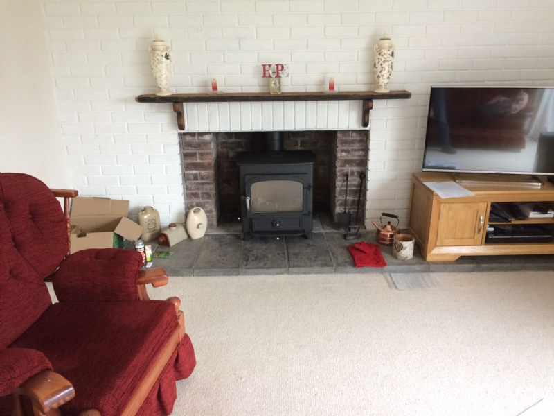 Clearview Vision In a Brick Fireplace
