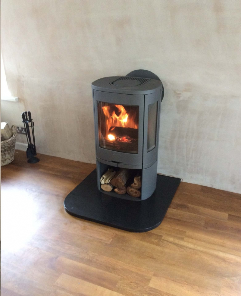 Contura 850 with rear flue - Contura 850 With Rear Flue Wood Burning Stove Installation From