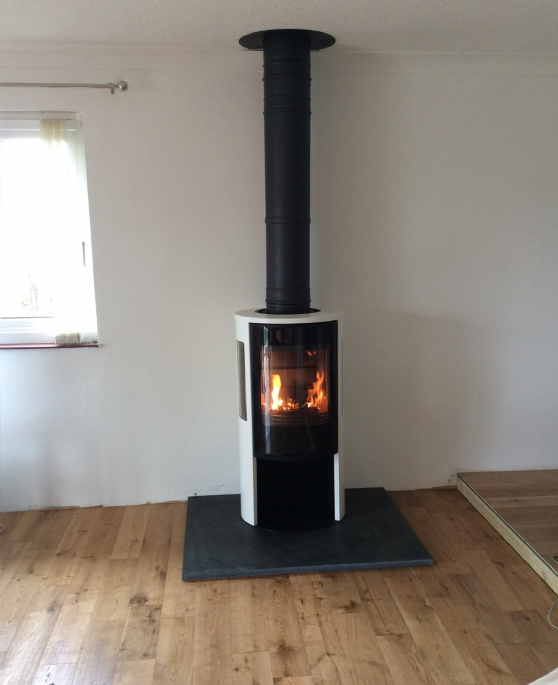 Contura 556 In White Wood Burning Stove Installation From