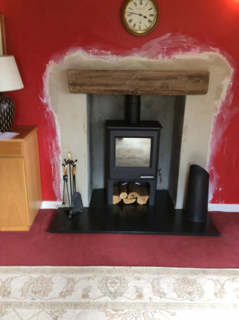 Painting Electric Fireplace