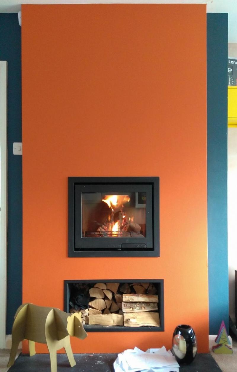 Fireplace installation in Truro