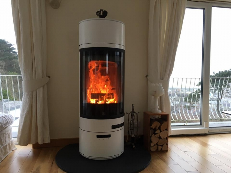Scan 83 woodburner  installed in Cornwall