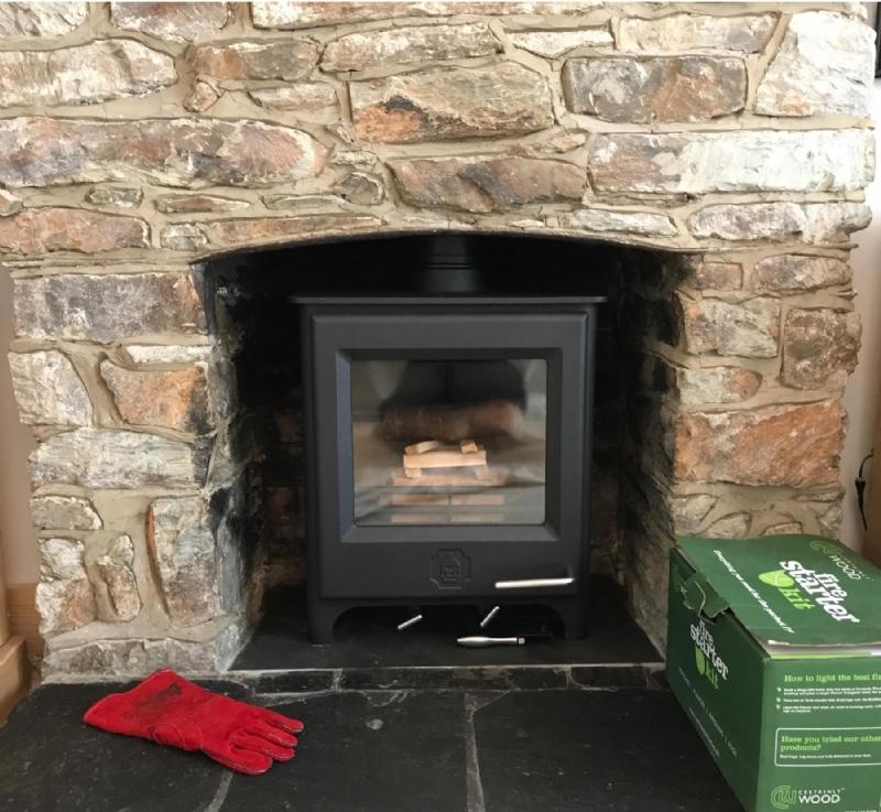Woodwarm Pheonix Firegem installed in Cornwall