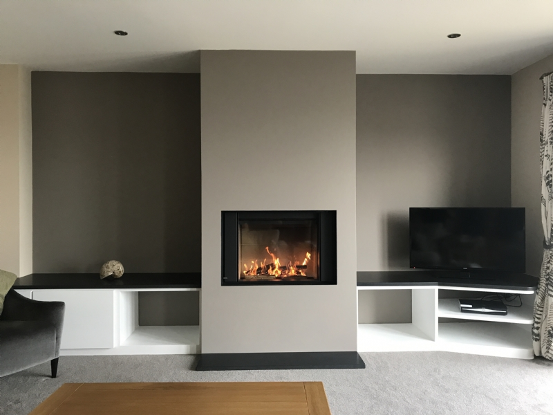Groovy Stuv Micro Mega And Feature Wall Fitted In Cornwall Wood Home Interior And Landscaping Ymoonbapapsignezvosmurscom