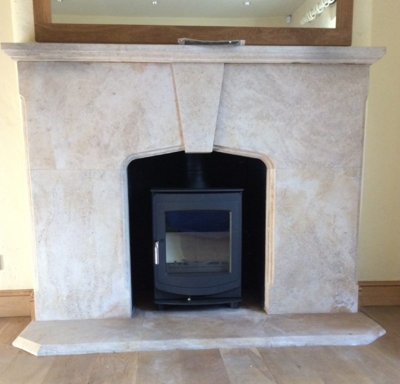 Aga Ellesmere in Stone Fireplace