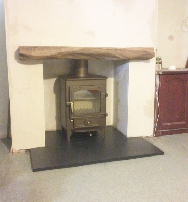 Clearview Pioner and non combustible wood lintel