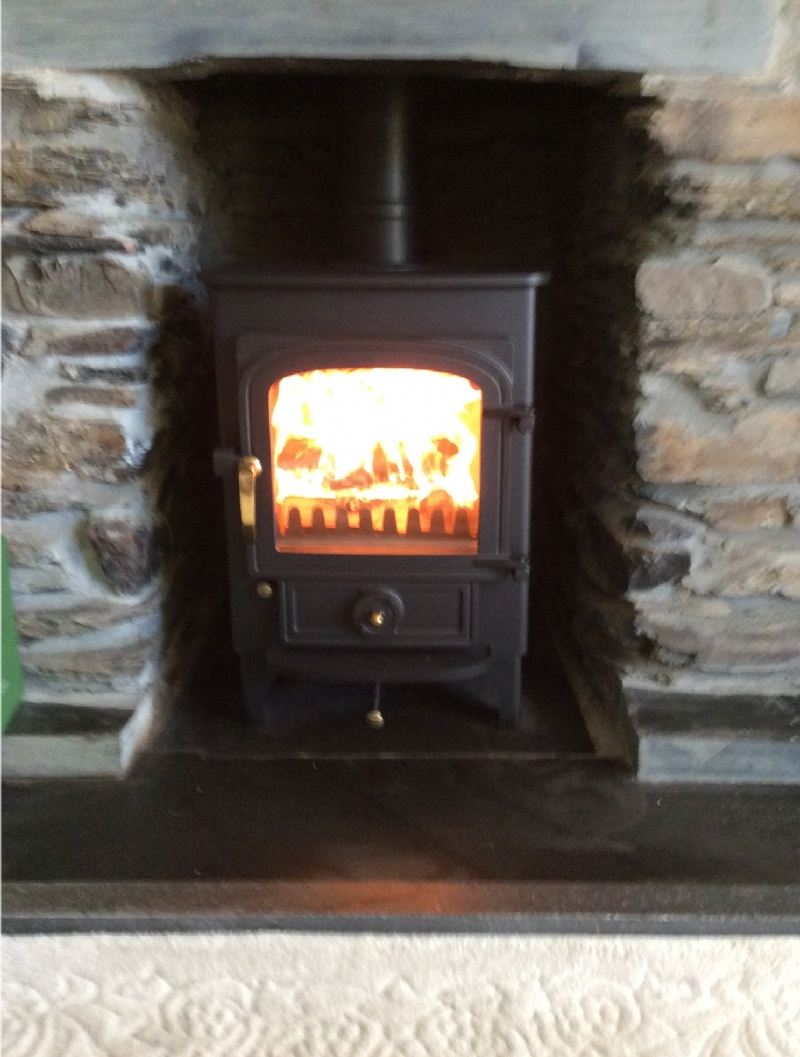 Clearview Pioneer in a tiny fireplace