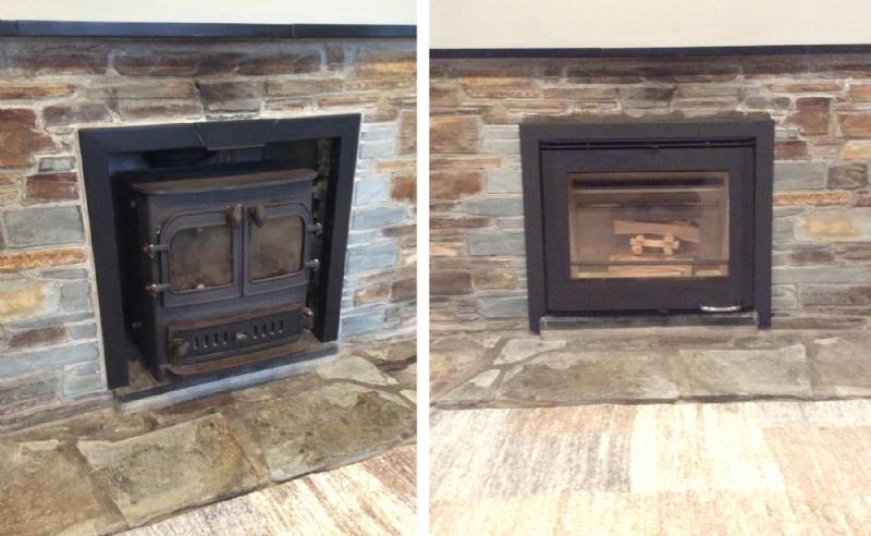 Updating a cornish slate fireplace