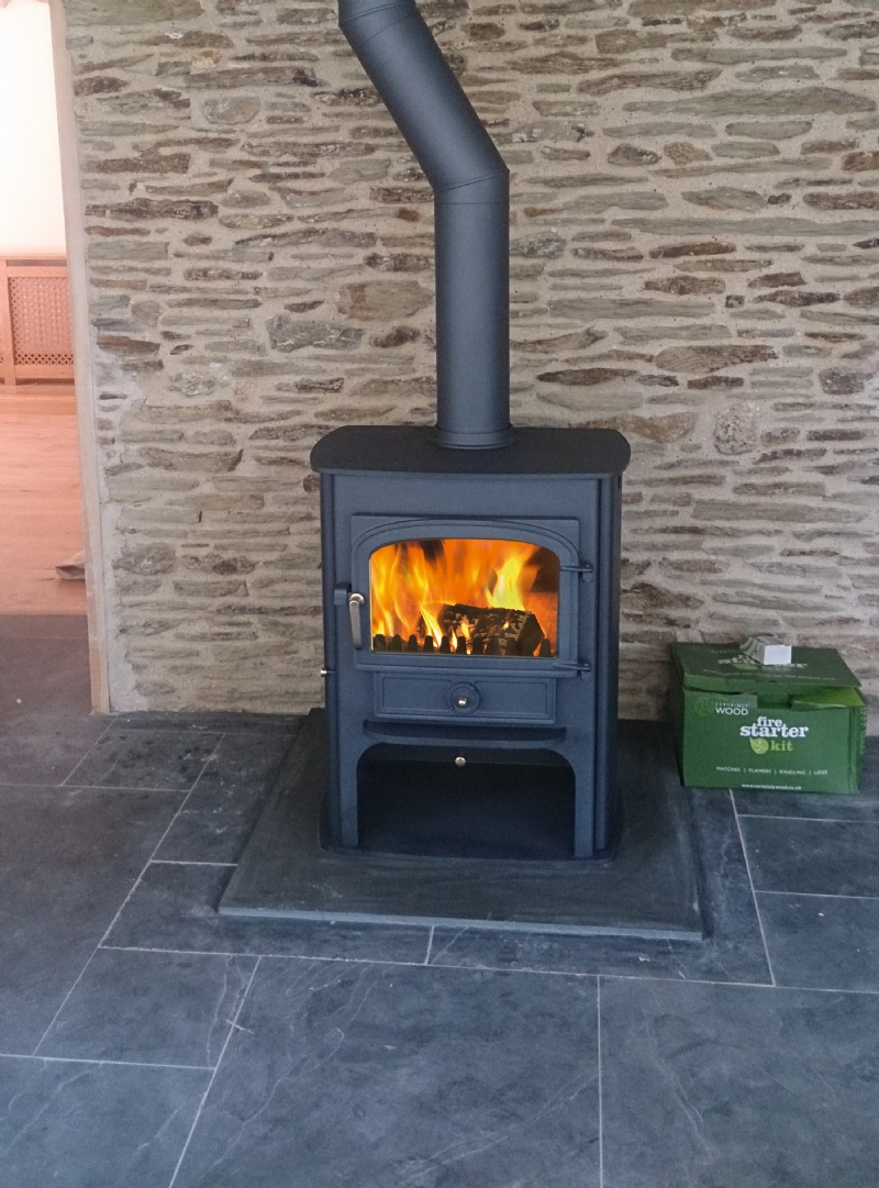 Clearview Solution 500 Installation Woodburner Cornwall Wadebridge Redruth