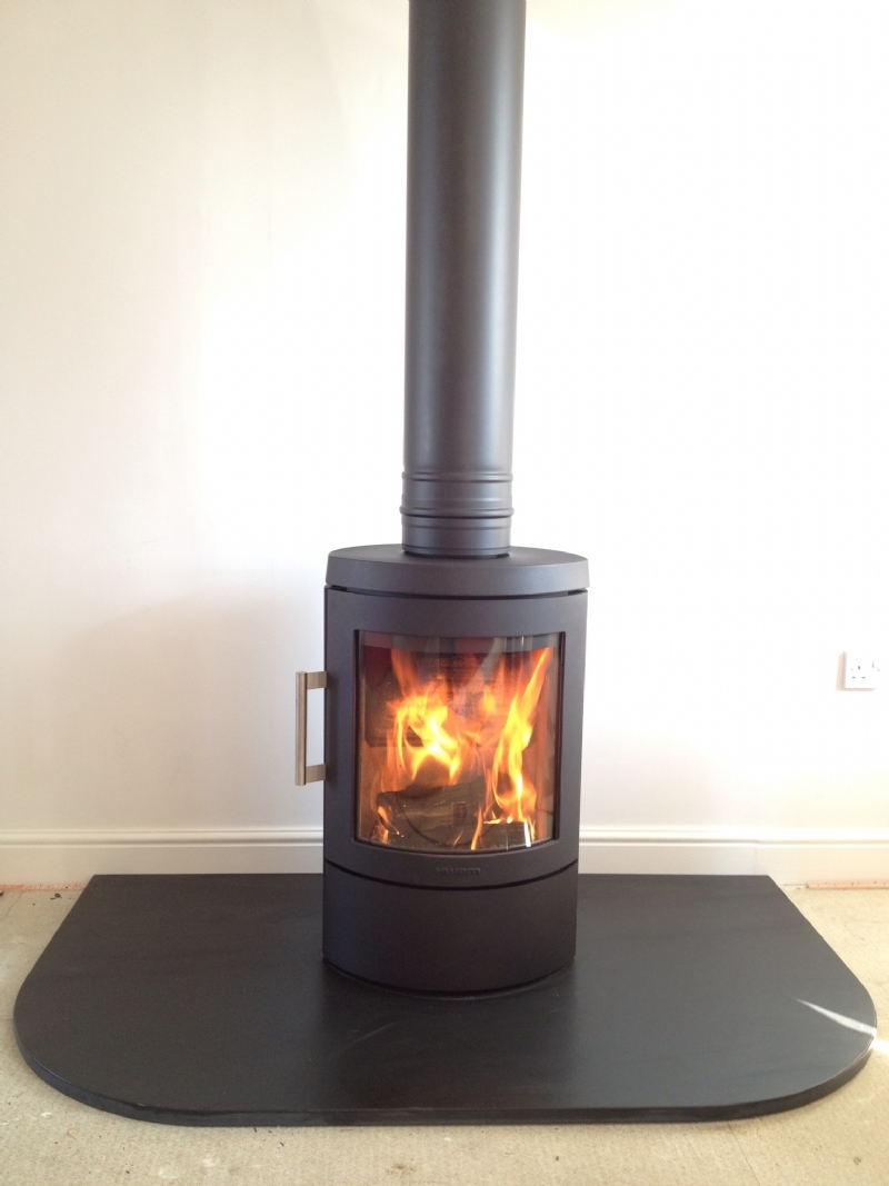 Hwam 3110 With Honed Slate Hearth Installation Wood