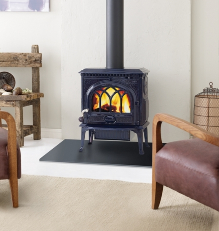 Jotul F3 Blue Black Enamel Woodburner Cornwall Wadebridge Redruth