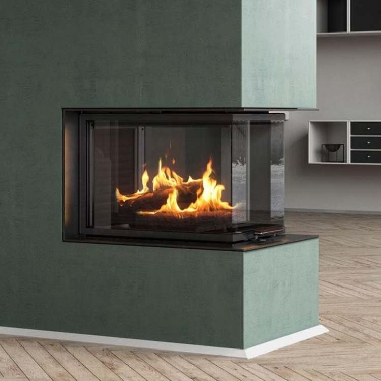 Rais Visio 3:1 three sided woodburner