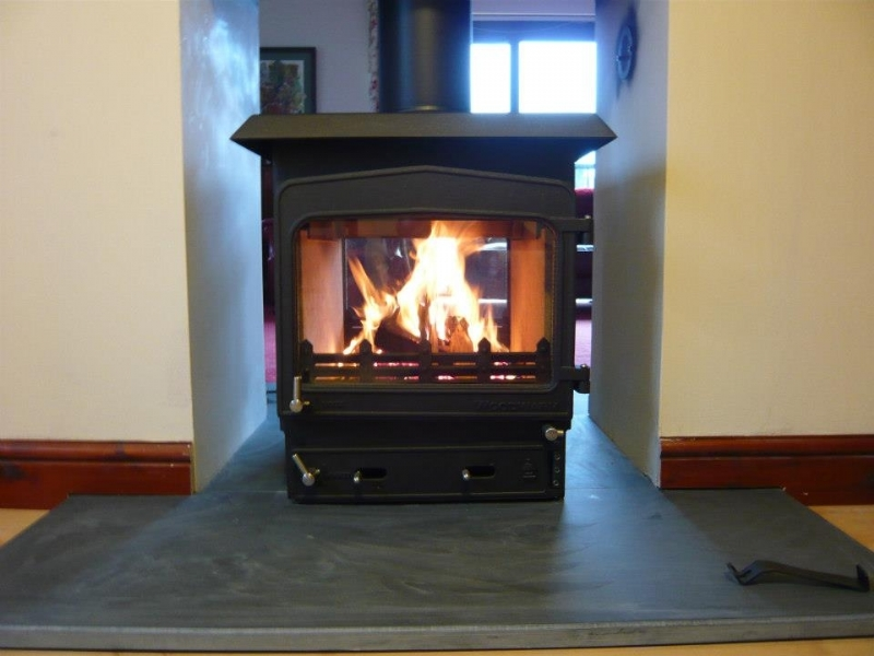 Woodwarm Fireview double sided fire