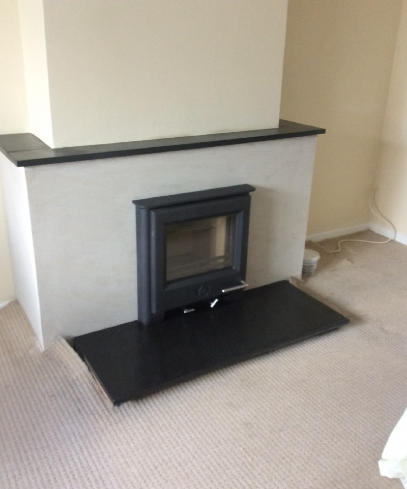 Woodwarm inset fire