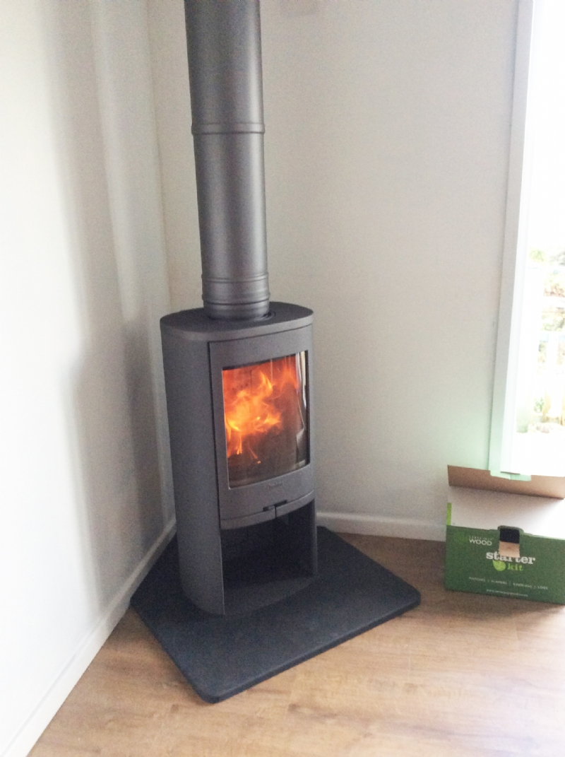 Contura 810 In A Small Corner Setting Wood Burning Stove Installation From Kernow Fires