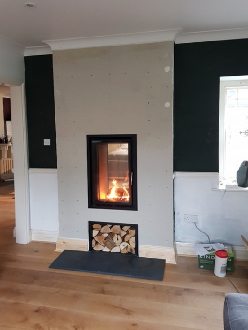 Double sided fire bring heat to both rooms