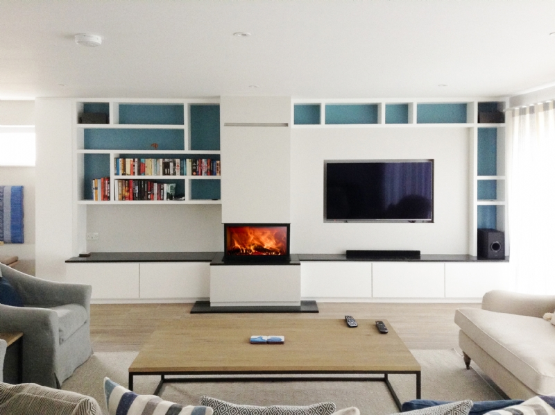 Feature Fireplace with painted wall
