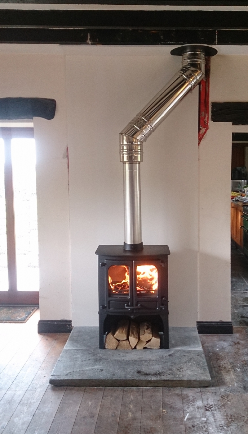 Charnwood Island Ii Installation Wood Burning Stove Installation From Kernow Fires