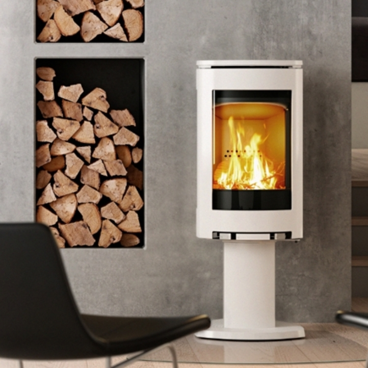 Jotul F370 Series 373 in White Enamel